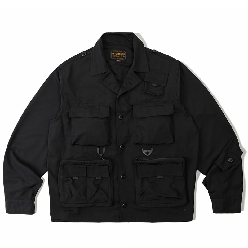 HUNTING COLLAR JACKET_BLACK 아웃스탠딩 컴퍼니HUNTING COLLAR JACKET_BLACK