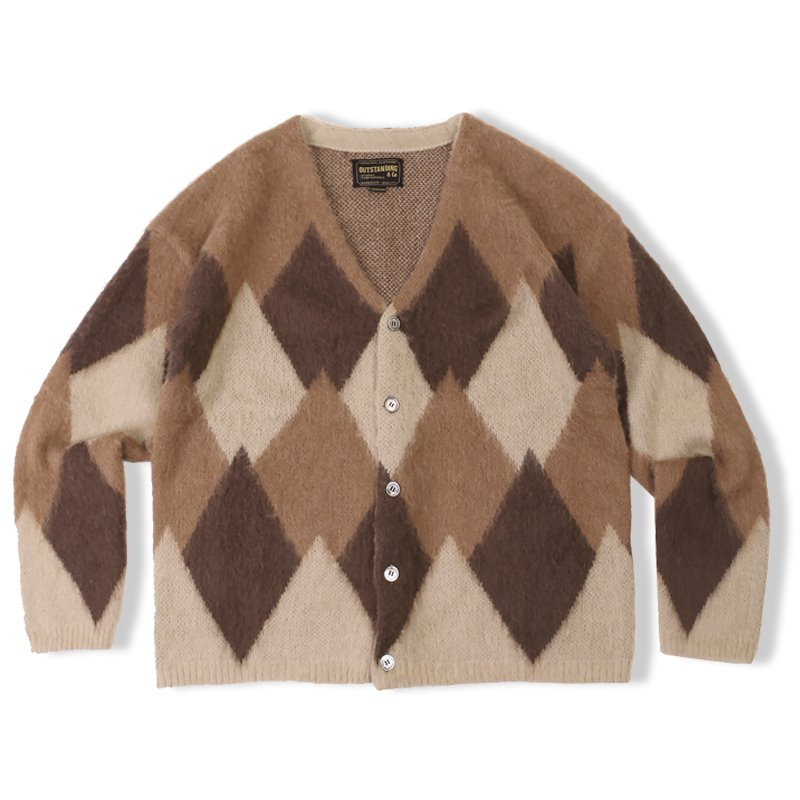 20F/W MOHAIR ARGYLE CARDIGAN_BROWN