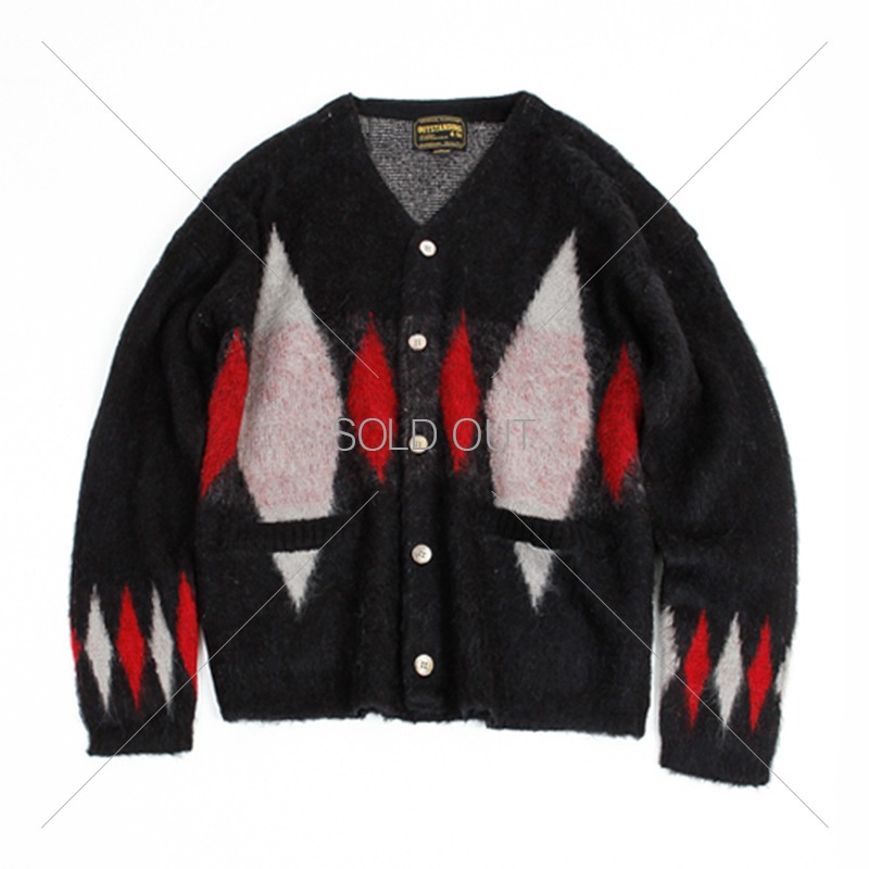 19FW MOHAIR CARDIGAN-DIAMOND [BLACK] 아웃스탠딩 컴퍼니19FW MOHAIR CARDIGAN-DIAMOND [BLACK]