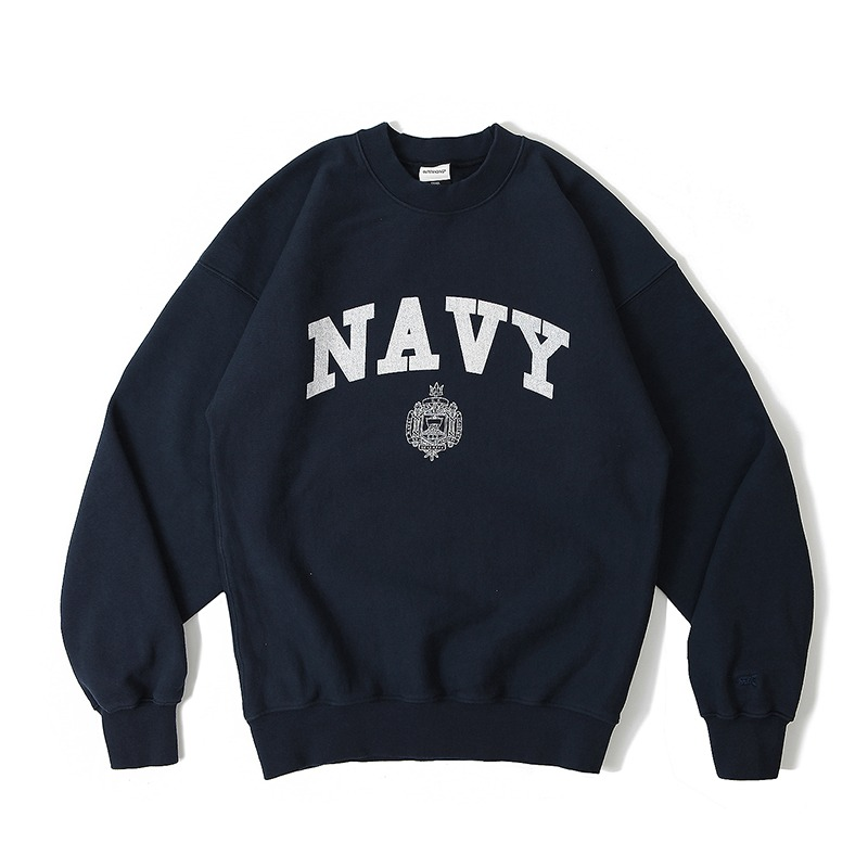 V.S.C SWEAT_NAVY_NAVY 아웃스탠딩 컴퍼니V.S.C SWEAT_NAVY_NAVY