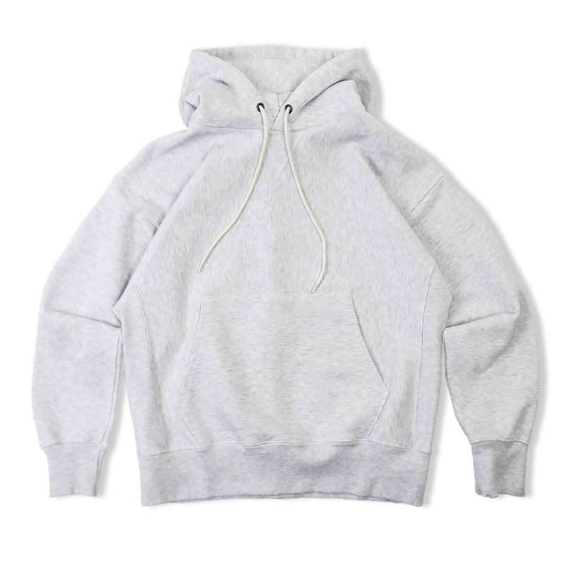 REVERSE HEAVY SWEAT HOOD_1% MEALANGE GRAY
