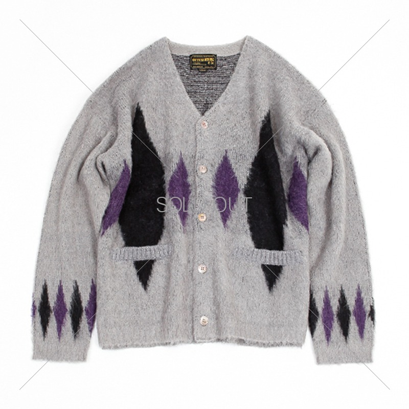 19FW MOHAIR CARDIGAN-DIAMOND [GRAY] 아웃스탠딩 컴퍼니19FW MOHAIR CARDIGAN-DIAMOND [GRAY]