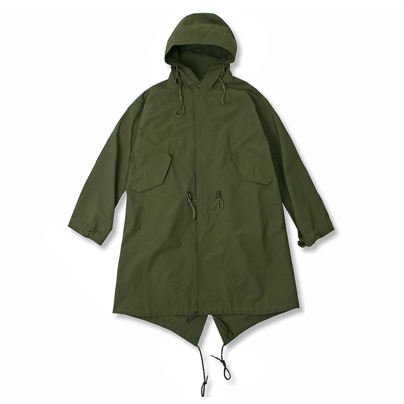 21S/S HOODED FISHTAIL PARKA_OLIVE GREEN