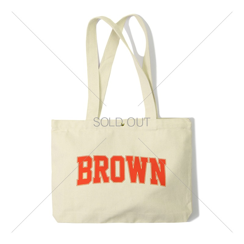 V.O.C COTTON ECO BAG_BROWN 아웃스탠딩 컴퍼니V.O.C COTTON ECO BAG_BROWN