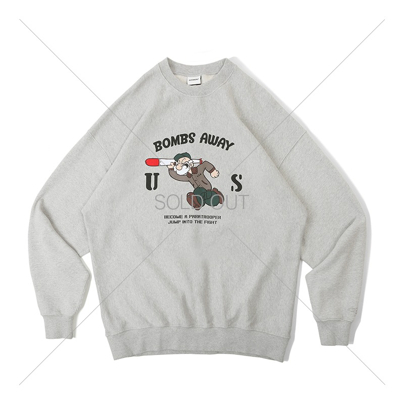V.S.C SWEAT_BOMBS AWAY_3% MELANGE GRAY 아웃스탠딩 컴퍼니V.S.C SWEAT_BOMBS AWAY_3% MELANGE GRAY