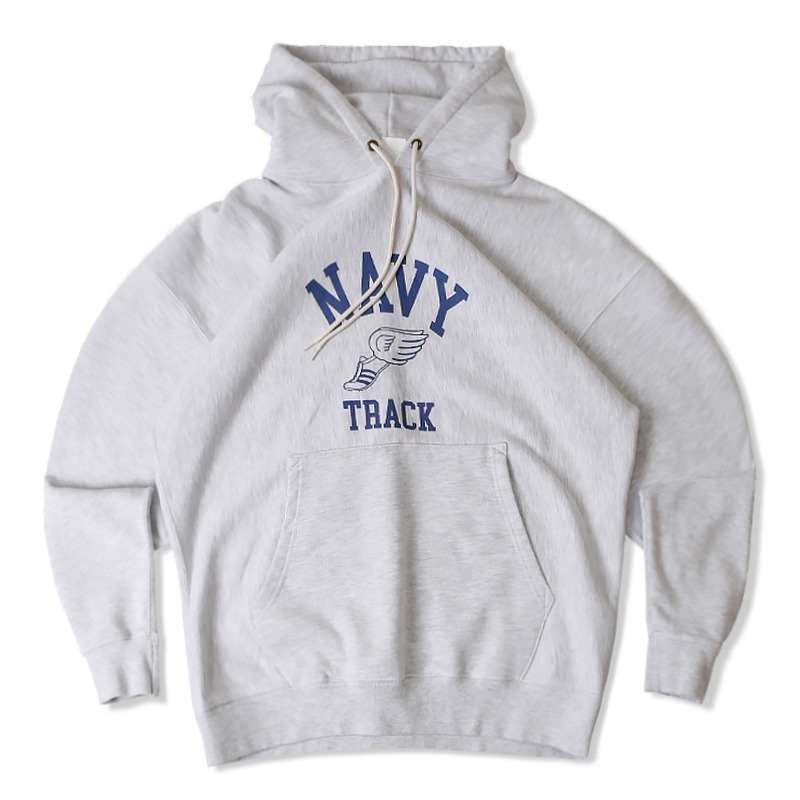 V.S.C HOOD SWEAT TRACK_1%MELANGE GRAY