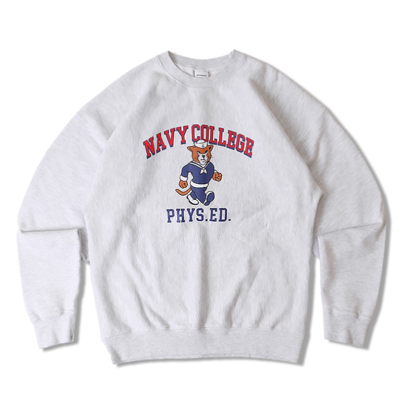 V.S.C SWEAT NAVY COLLEGE_1%MELANGE GRAY