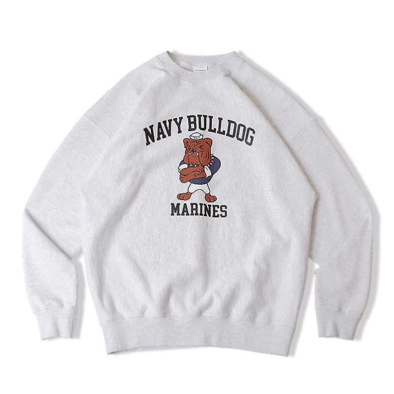 V.S.C SWEAT NAVY BULLDOG_1%MELANGE GRAY