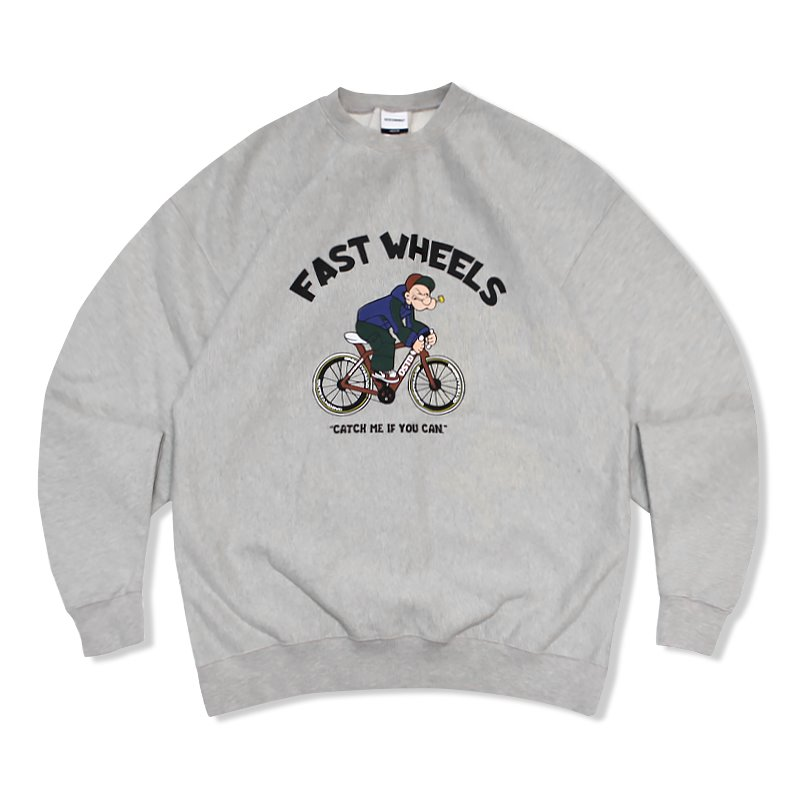 V.S.C SWEAT (FAST WHEELS)_3%MELANGE GRAY