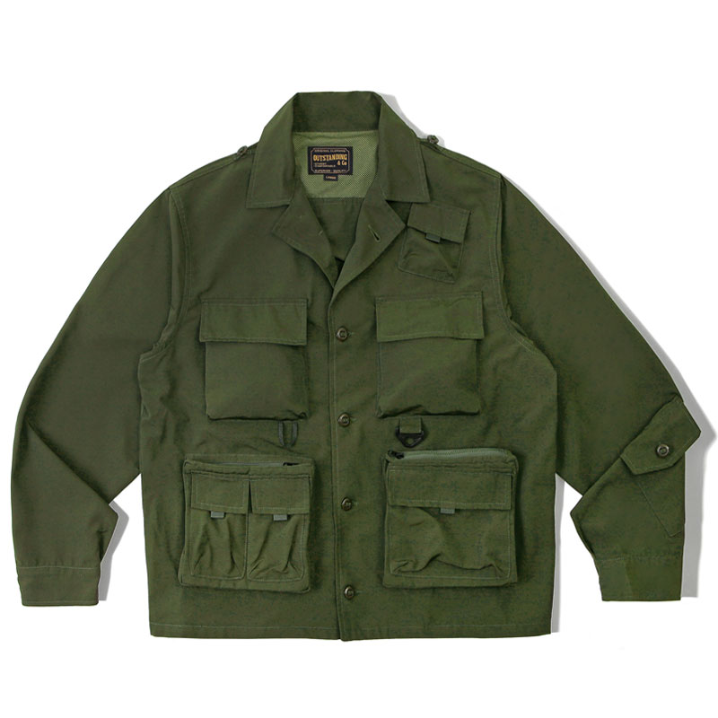 HUNTING COLLAR JACKET_OLIVE GREEN 아웃스탠딩 컴퍼니HUNTING COLLAR JACKET_OLIVE GREEN