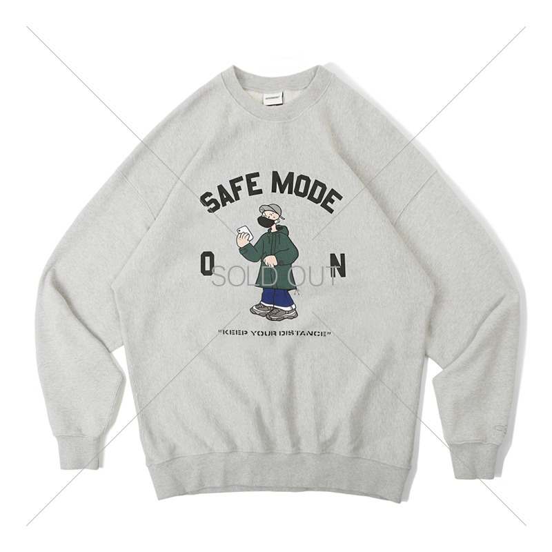 V.S.C SWEAT_SAFE MODE_3% MELANGE GRAY 아웃스탠딩 컴퍼니V.S.C SWEAT_SAFE MODE_3% MELANGE GRAY