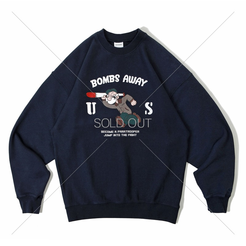 V.S.C SWEAT_BOMBS AWAY_NAVY 아웃스탠딩 컴퍼니V.S.C SWEAT_BOMBS AWAY_NAVY