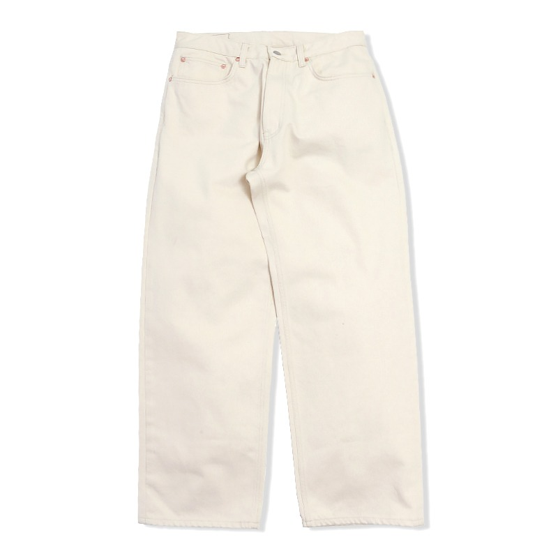 WIDE FIT WASHING OATMEAL DENIM [NATURAL]