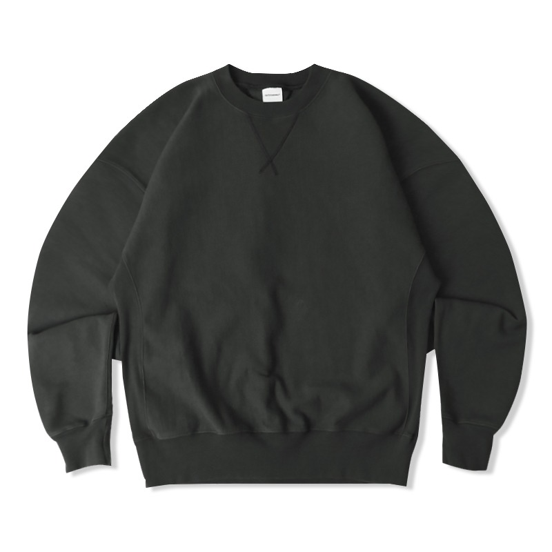 REVERSE HEAVY SWEAT_CHARCOAL