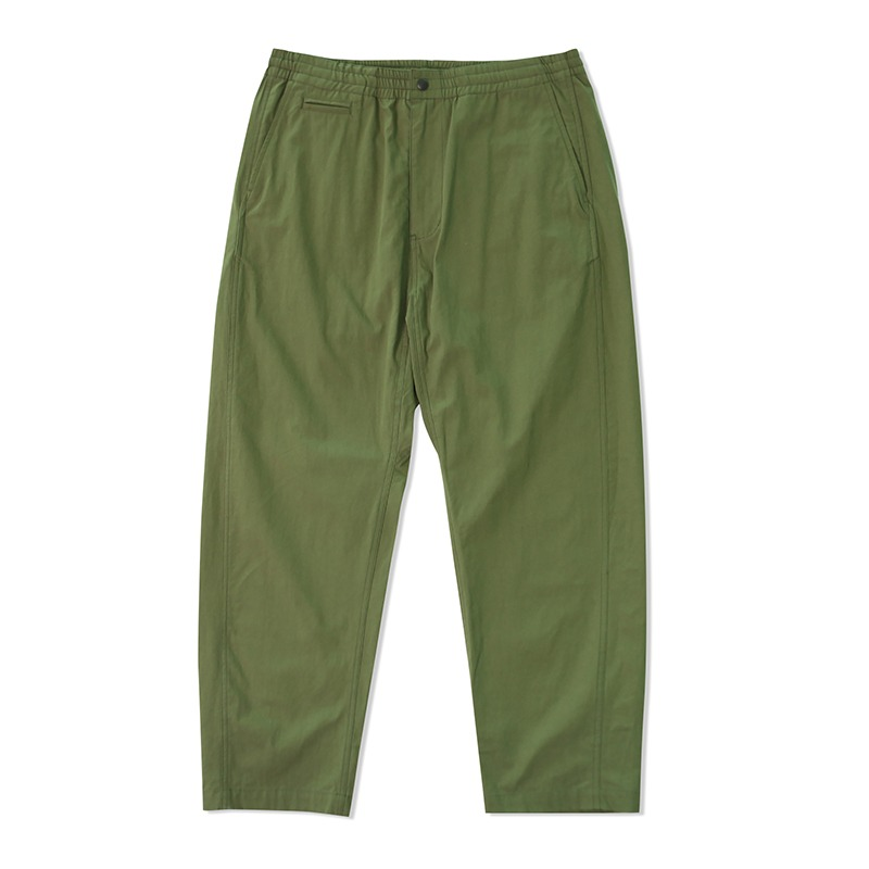 SHIRRED WAIST PANTS_OLIVE GREEN