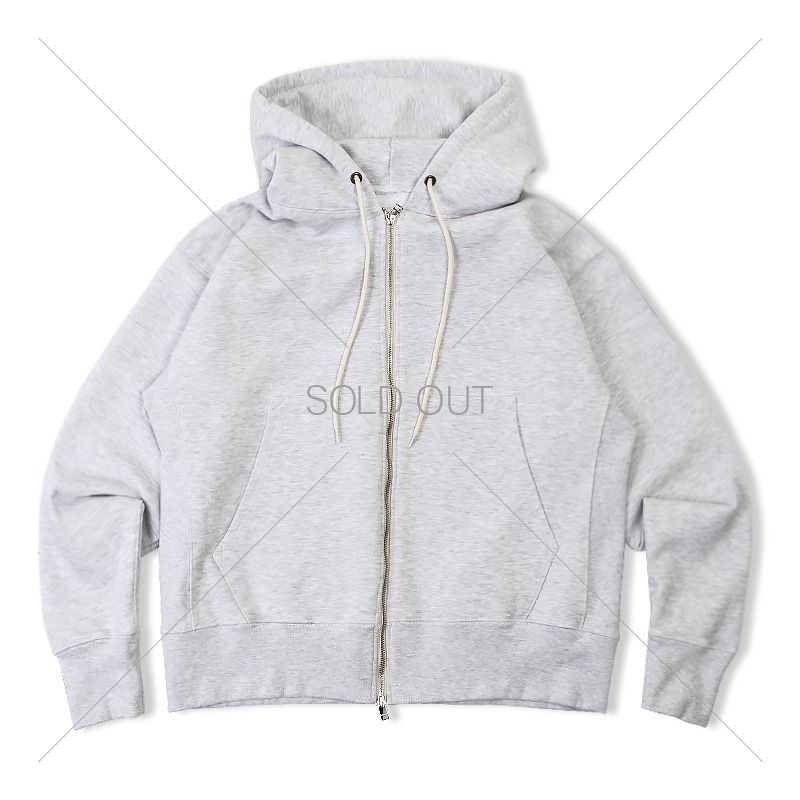 REVERSE HEAVY SWEAT HOOD ZIP_1% MEALANGE GRAY