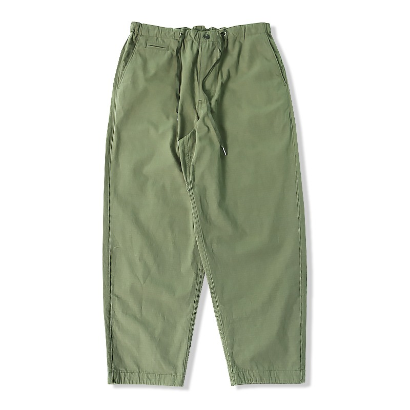 21S/S RIP STRING PANTS_OLIVE GREEN